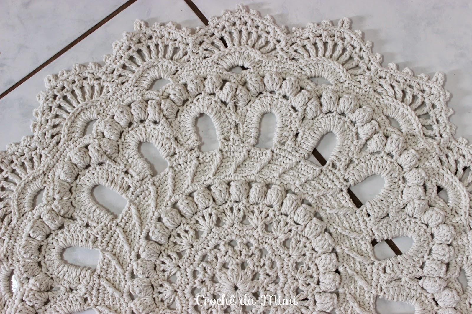 Tapetes De Croche Para Quarto De Menina Nchome Info -> Tapete De Croche Redondo Passo A Passo