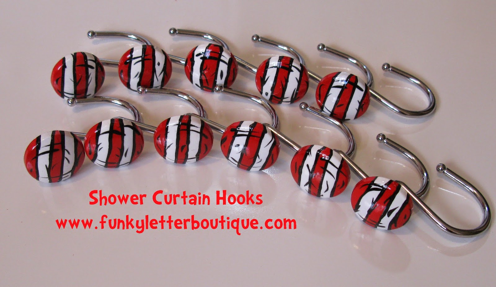 Pottery barn dr seuss shower curtain - Dr Seuss Cat In The Hat Striped Shower Curtain Hooks