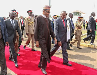 Buhari Lands In Kenya On 5-day Tour (Photos)