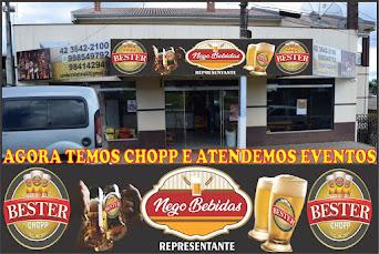 Agora no Nego Bebidas em Turvo tem Chopp Bester e também atende eventos