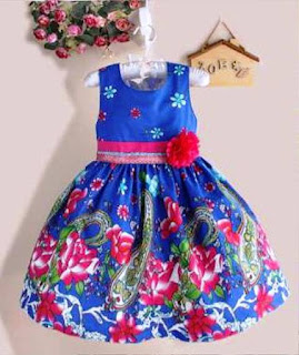 Model Baju Batik Anak Perempuan 4