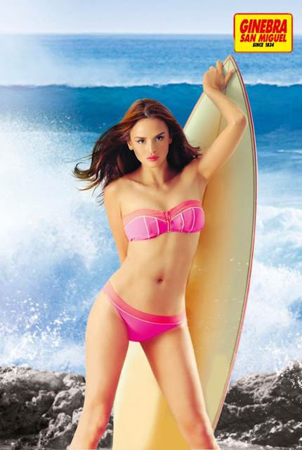 Georgina Wilson hot and sexy for Ginebra 2013 calendar