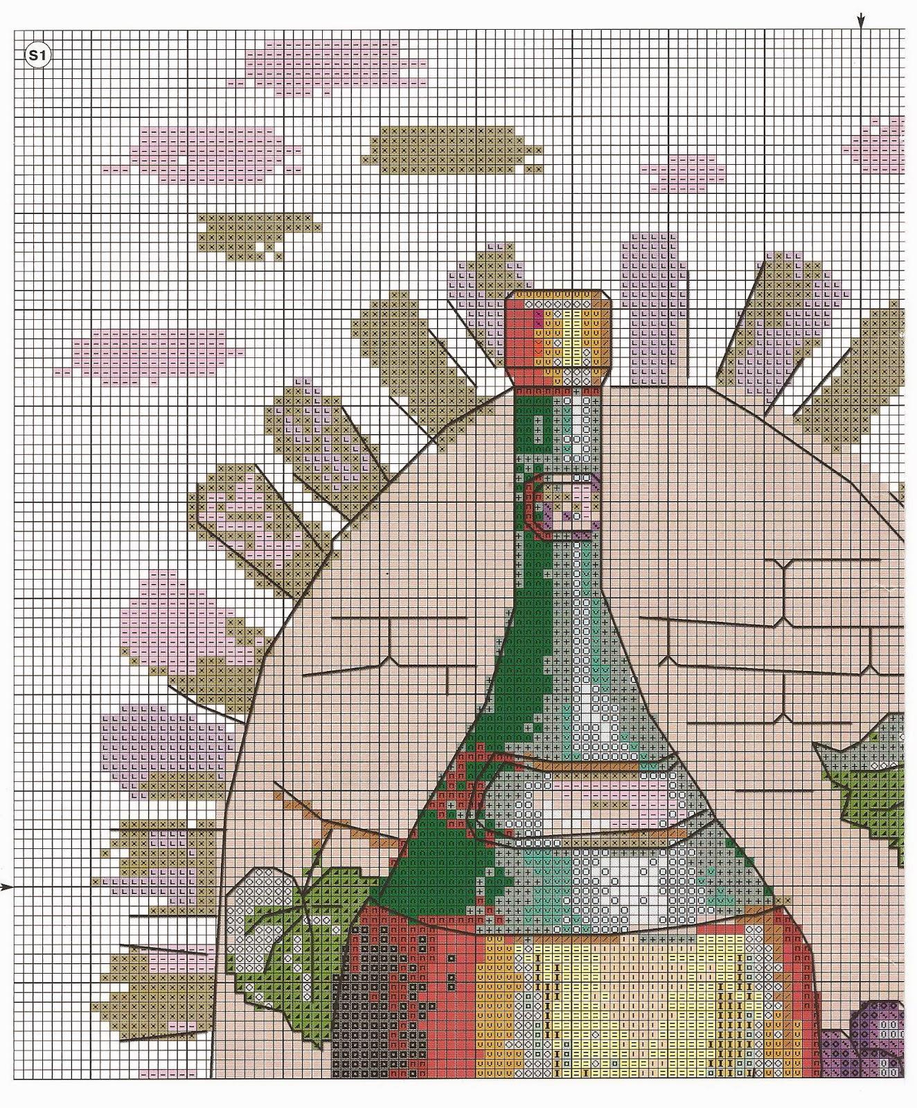 вышивка крестом кухня схема риолис