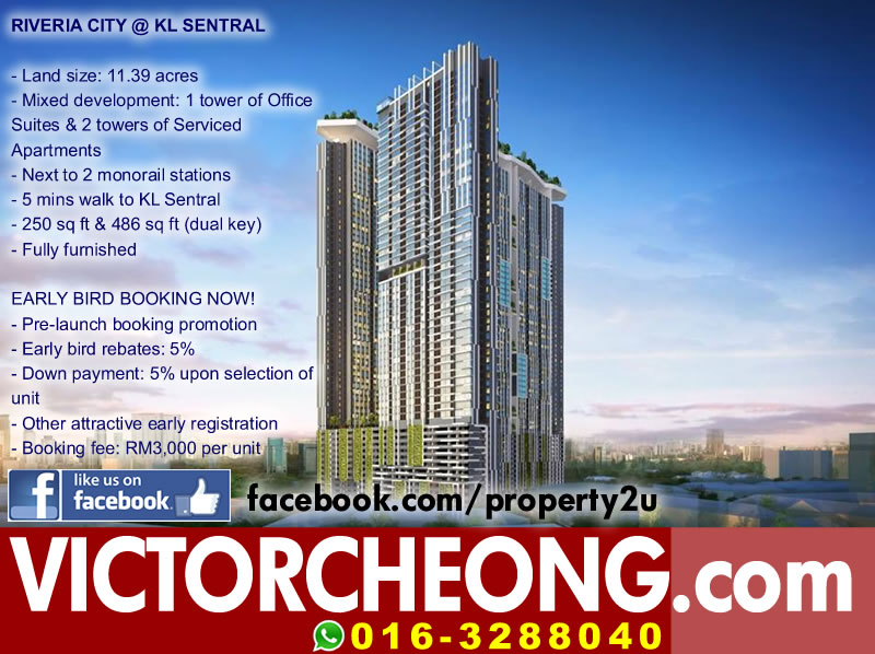 Riveria City @ KL Sentral for Sale