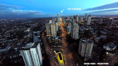 Drone video capture - Kingsway at Metrotown, Burnaby