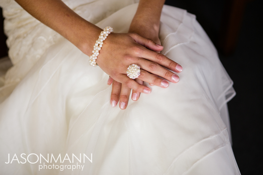Jason Mann Photography - Door County Pearl Wedding Ring and Bracelet