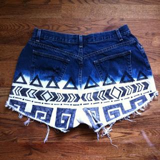 Reciclatex Cómo decolorar unos jeans con dibujos tribales