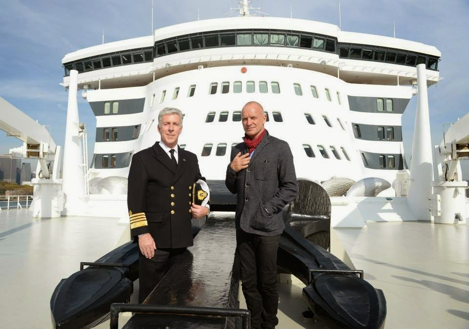Sting on QM2