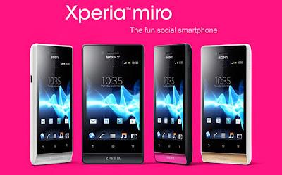 Pilihan Warna Harga Sony Xperia Miro ST23i