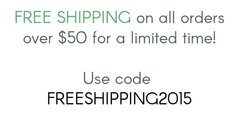 "Use code ""FREESHIPPING2015"" at checkout in both of my shops for FREE shipping (Canada, US & International)!  http://www.simpleisprettyshop.com & http://www.simpleisprettyshop.etsy.com"