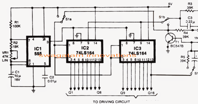 knight rider led scanner circuit
