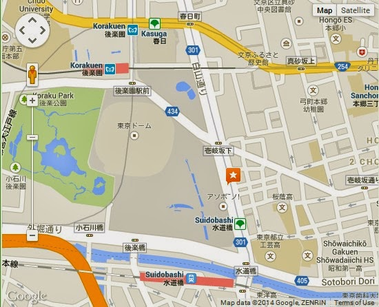 Detail ASOBono Tokyo Dome City Location Map