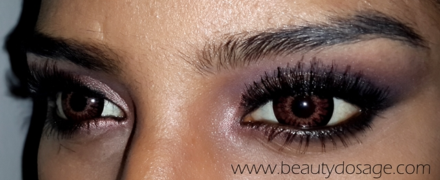 Before I get started, the circle lenses I'm wearing here are called GEO Princess MIMI chocolate brown (15mm) you can read my short review of the princess ...