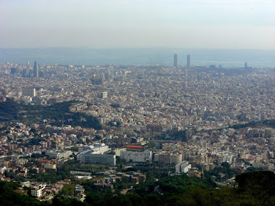 View of Barcelona from the Tibidabo funfair
