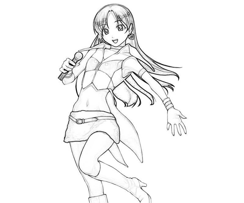 idolmaster-chihaya-kisaragi-nice-coloring-pages