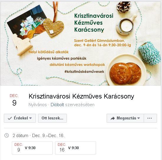 Krisztinavárosi Kézműves Karácsony
