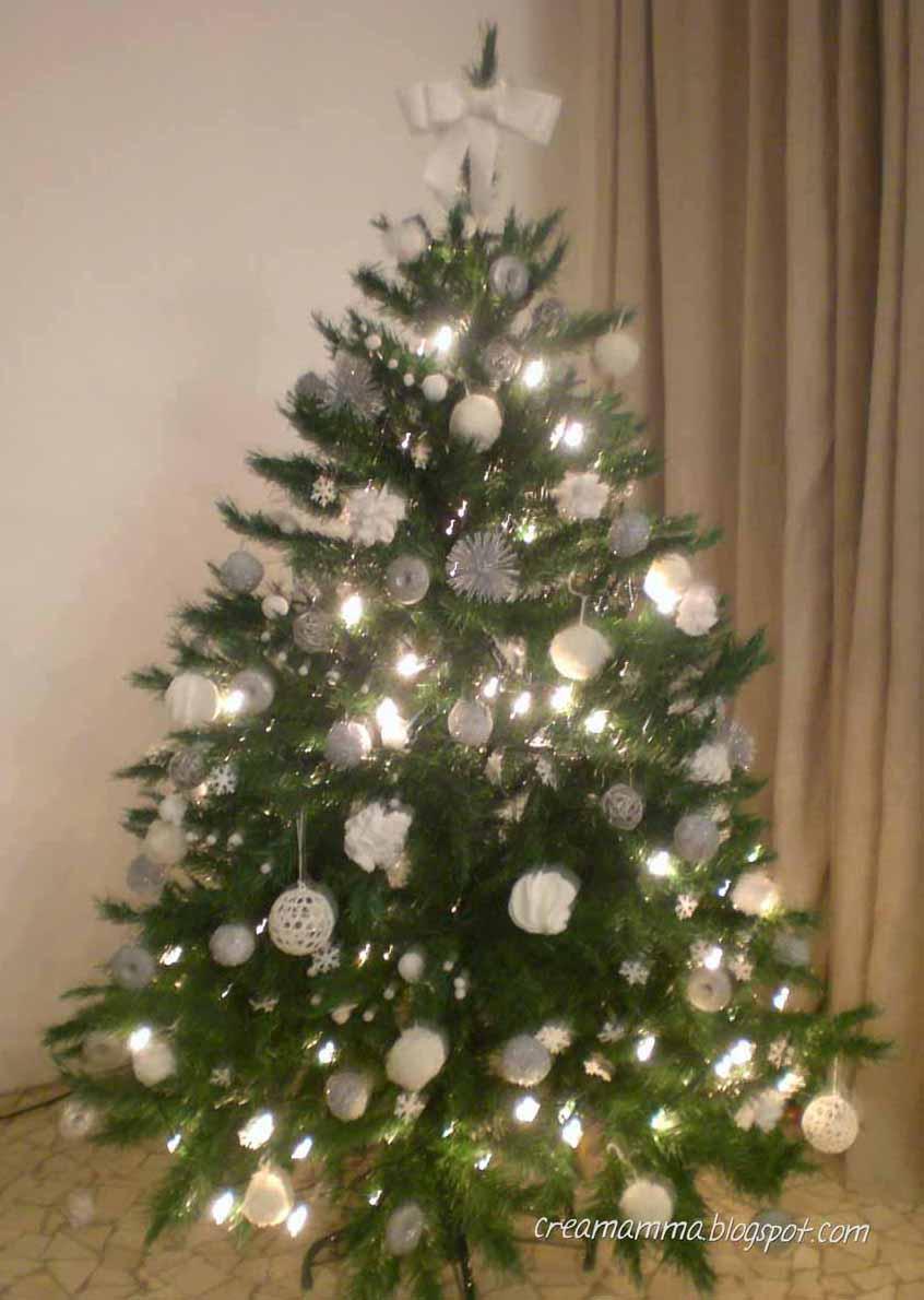 diario di una creamamma: un albero di natale tutto bianco e argento