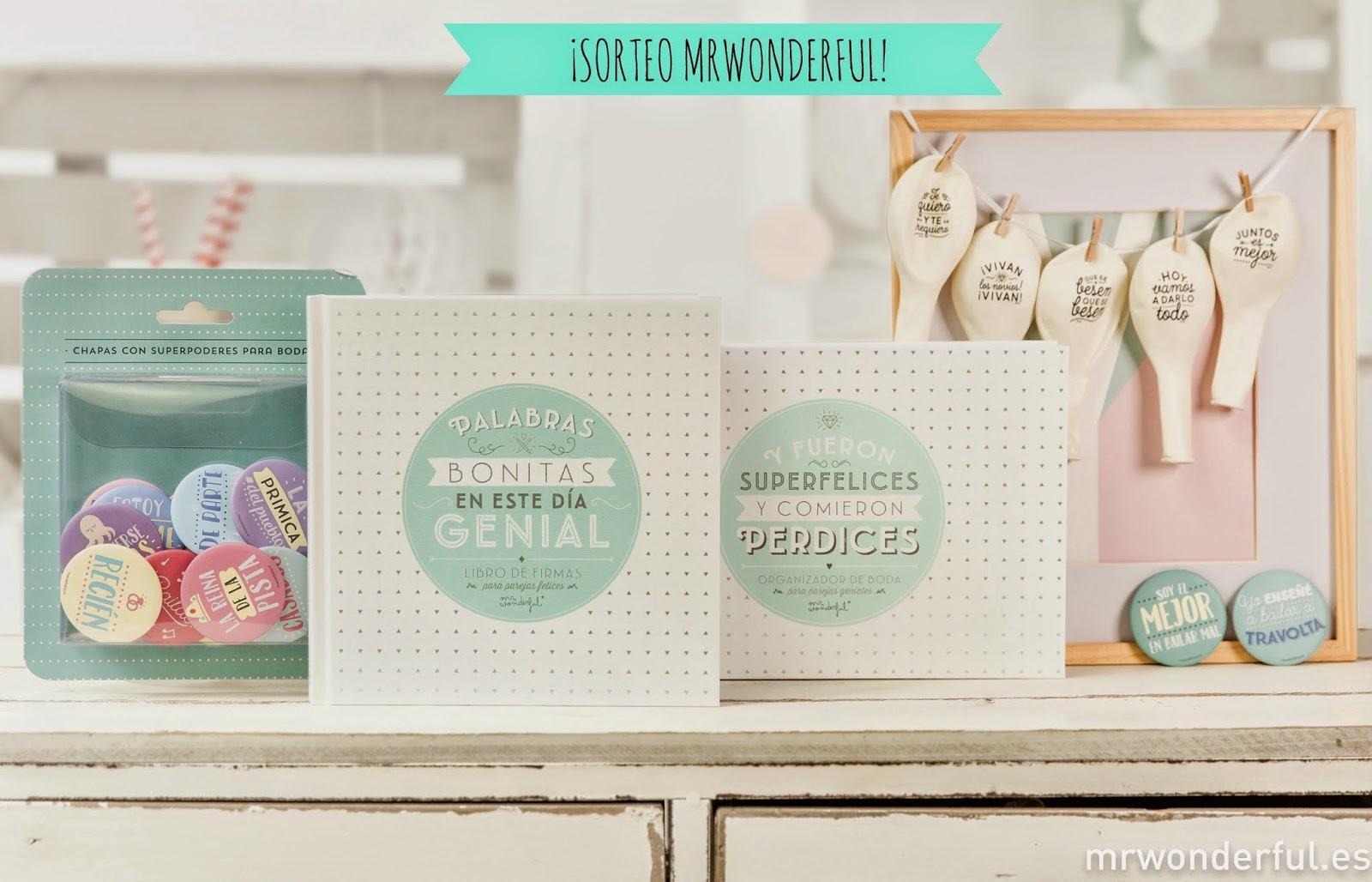 SORTEO: ¡Pack con 4 novedades nupciales de MrWonderful! | QUIERO UNA BODA  PERFECTA | Bloglovin'