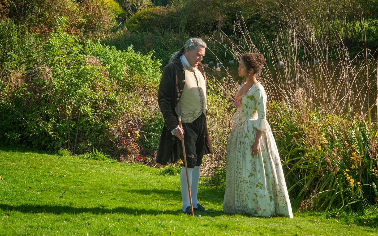 Gugu Mbatha-Raw and Tom Wilkinson in Belle