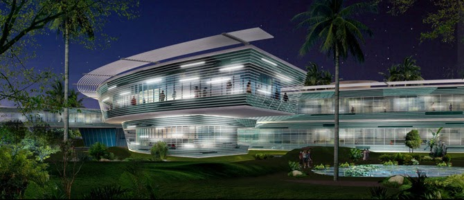 Luxury modern panoramic hotel architecture design india for Hotel design 3 stars