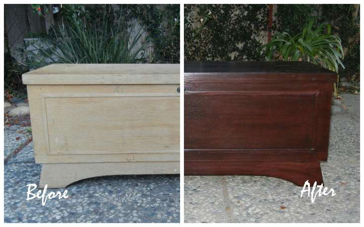 One Busy Lady and Six Great Kids: Thrift Store Cedar Chest