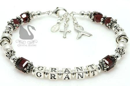 Elizabeth's Custom Mothers Hygroma Awareness Bracelet (B188-HYG)