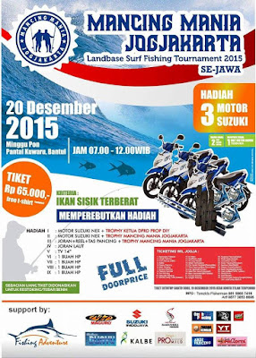 Tournament mancing landbase dan surf fishing
