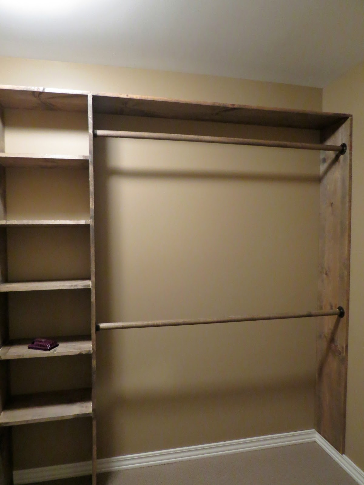 Let 39 s just build a house walk in closets no more living for Simple closet ideas