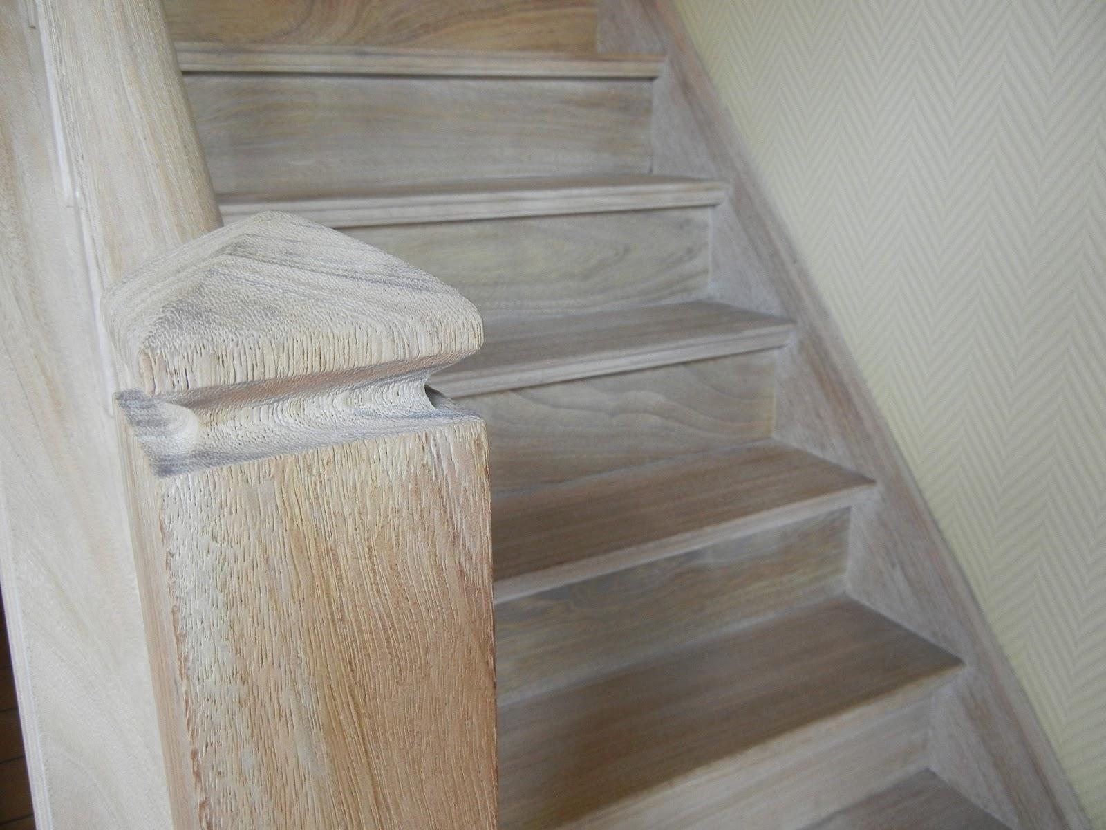 Trappen zandstralen en verwijderen van verf en vernis - Renovatie van een houten trap ...