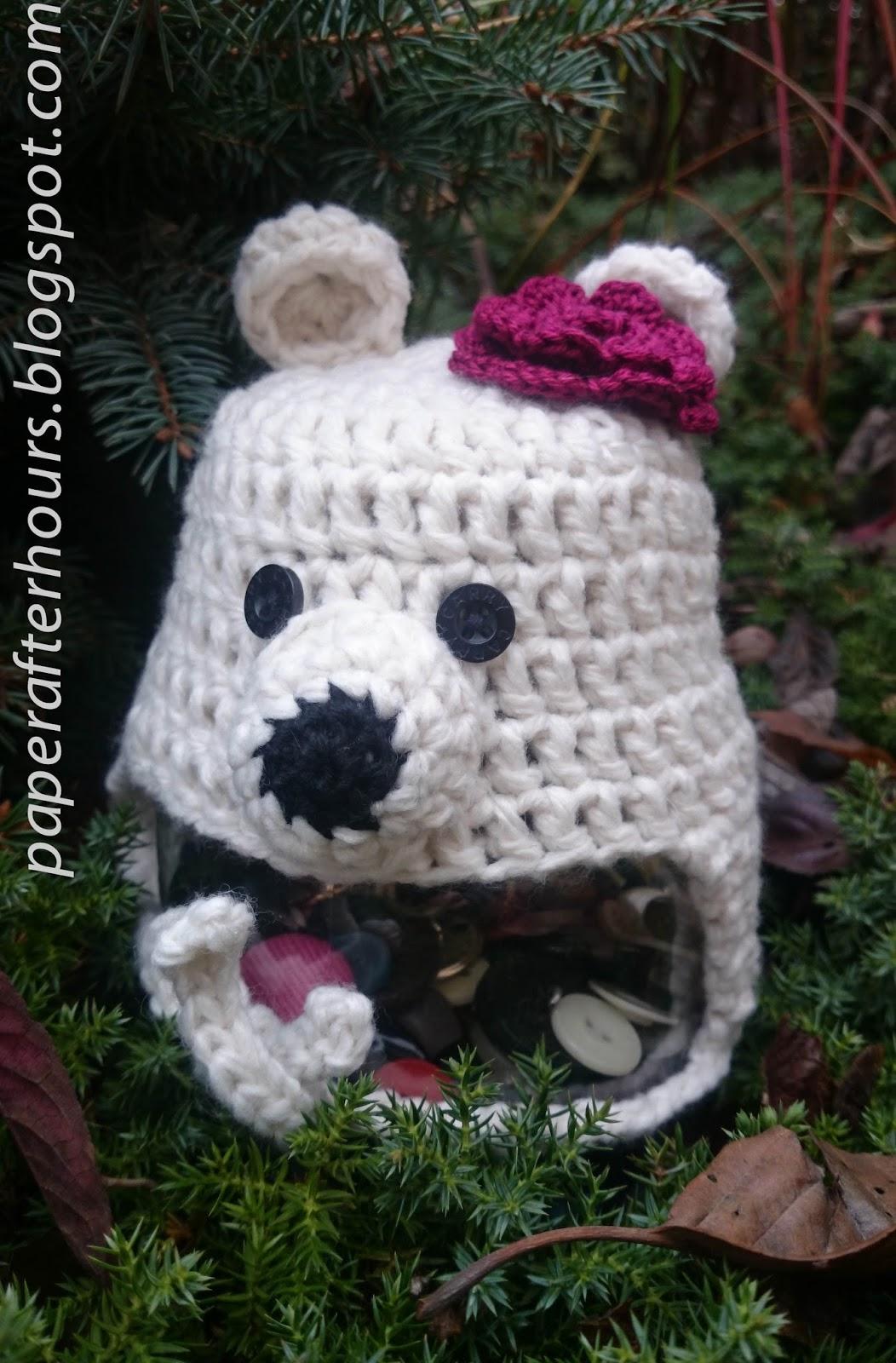 Miś polarny w czapce :-)