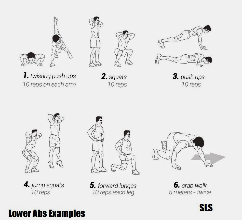 lower abs and legs exercises examples