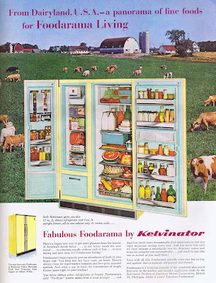 The fabulous Foodarama refrigerator by Kelvinator, from 1960 vintage ad.