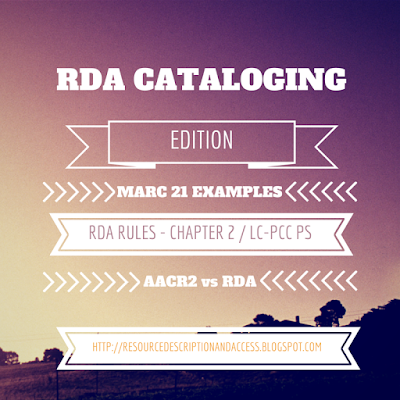 Resource Description & Access RDA