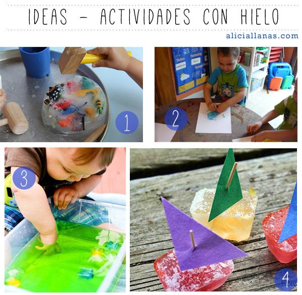 ideas actividades con hielo Alicia Llanas