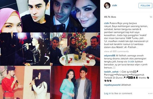 """""""Lil Sentiasa Dalam Doa Mak Iti... Al-Fatihah.."""" – Siti Nurhaliza"""