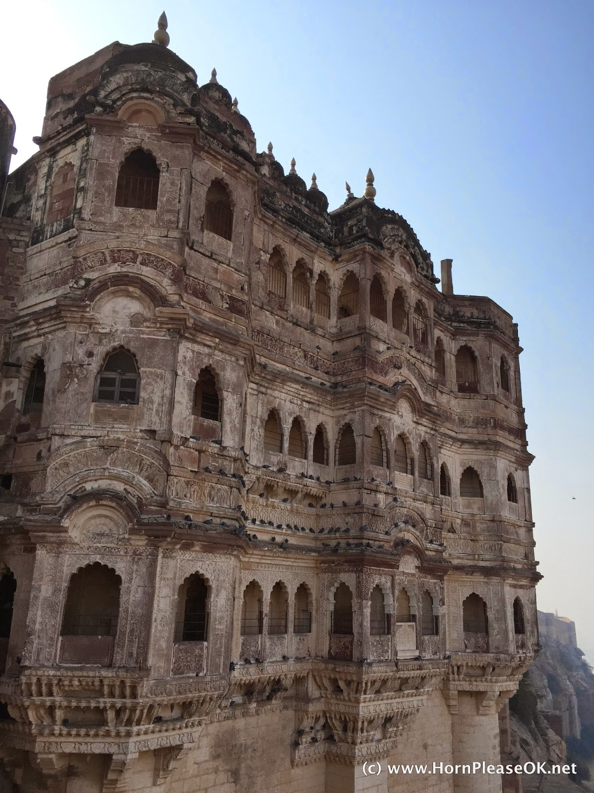 A palace within Mehrangarh Fort