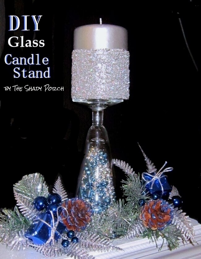 DIY Glass Candle Stand #decor #craft #holiday #wedding #DIY