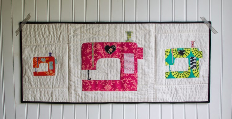 FREEBIES FOR CRAFTERS: Sewing Machine Applique Pattern