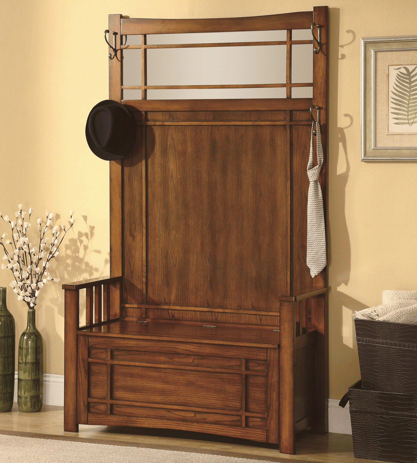 Simple Review About Living Room Furniture Entryway Storage Bench With Coat Rack