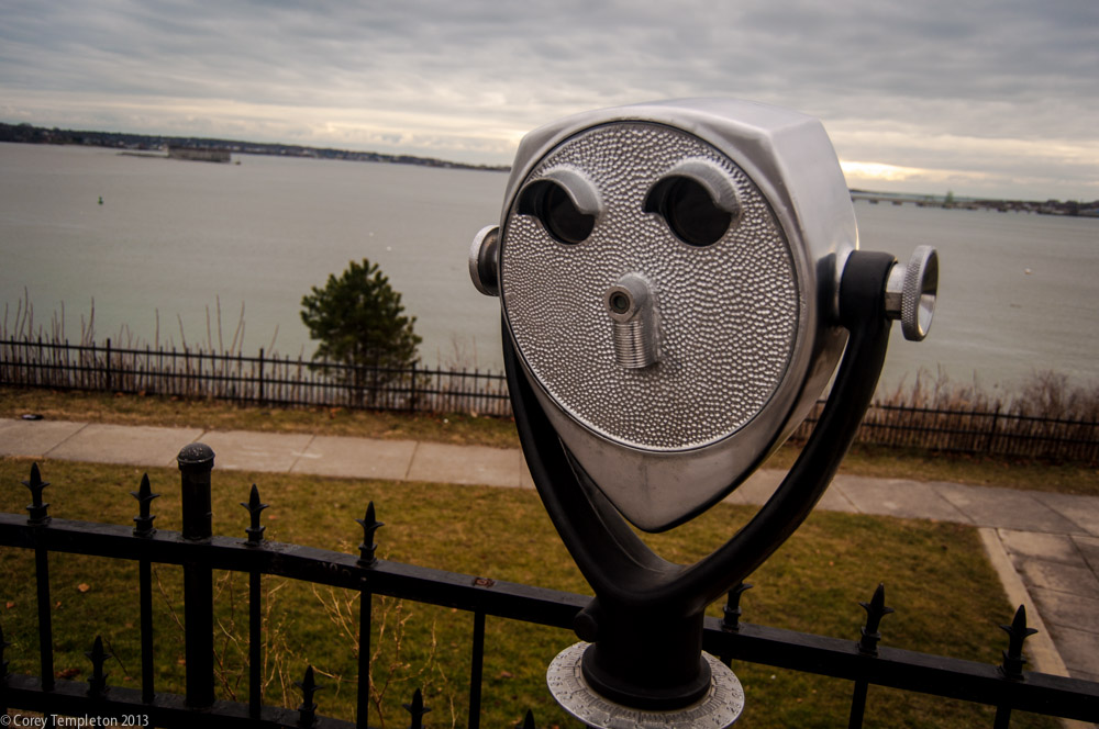 From mid-December, a view from Fort Allen Park on the Eastern