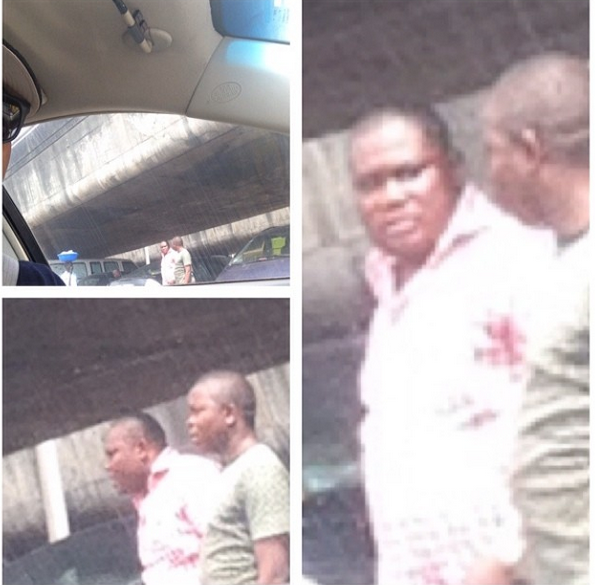 Actor Ik Ogbonna shares photos of policeman who robbed him of N50k