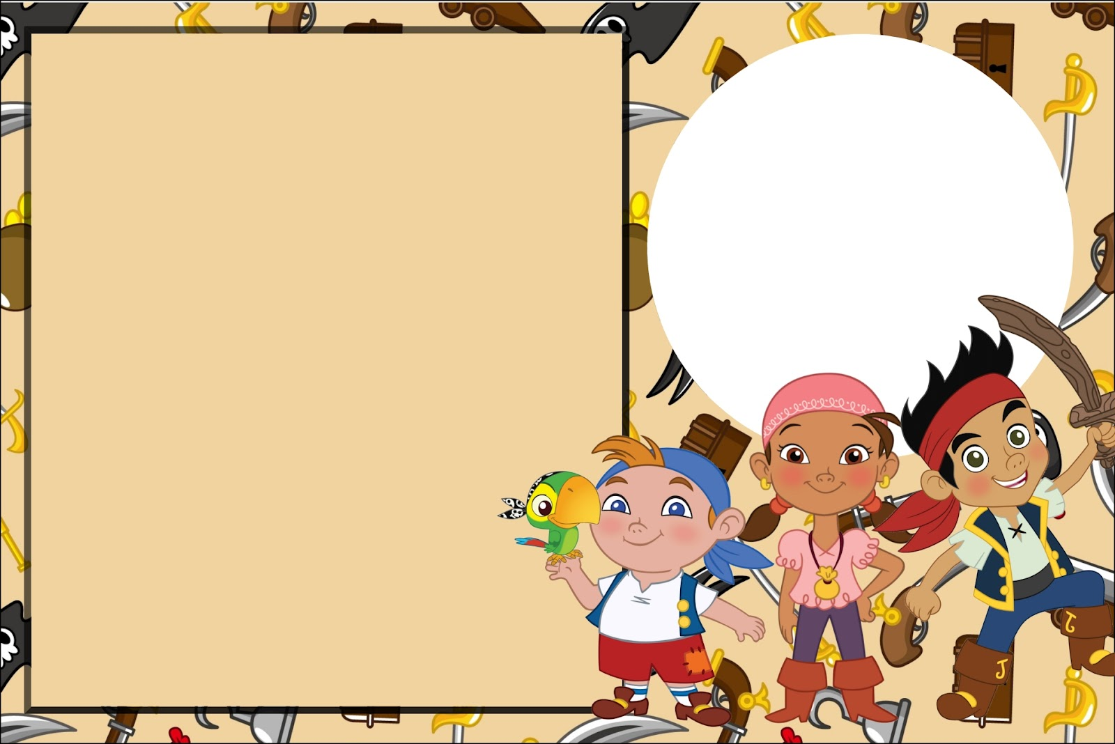 Inspired in jake and the neverland pirates free printable - Imagenes de piratas infantiles ...