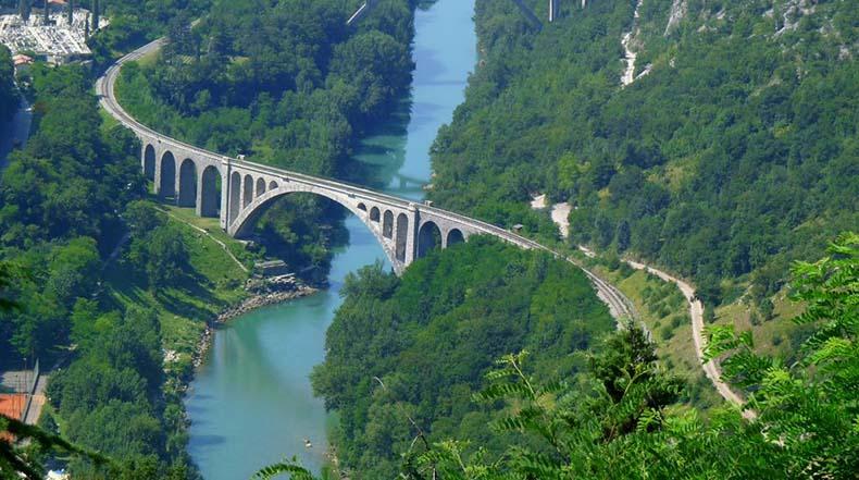 El Puente de Solkan, Eslovenia
