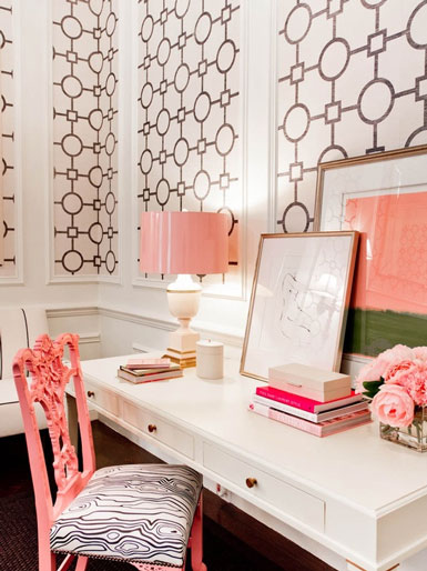 Belle maison inspiration snapshot feminine glam workspace - Belle maison interieur design ...