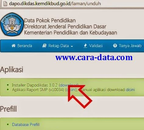 Download Dapodikdas Versi 302