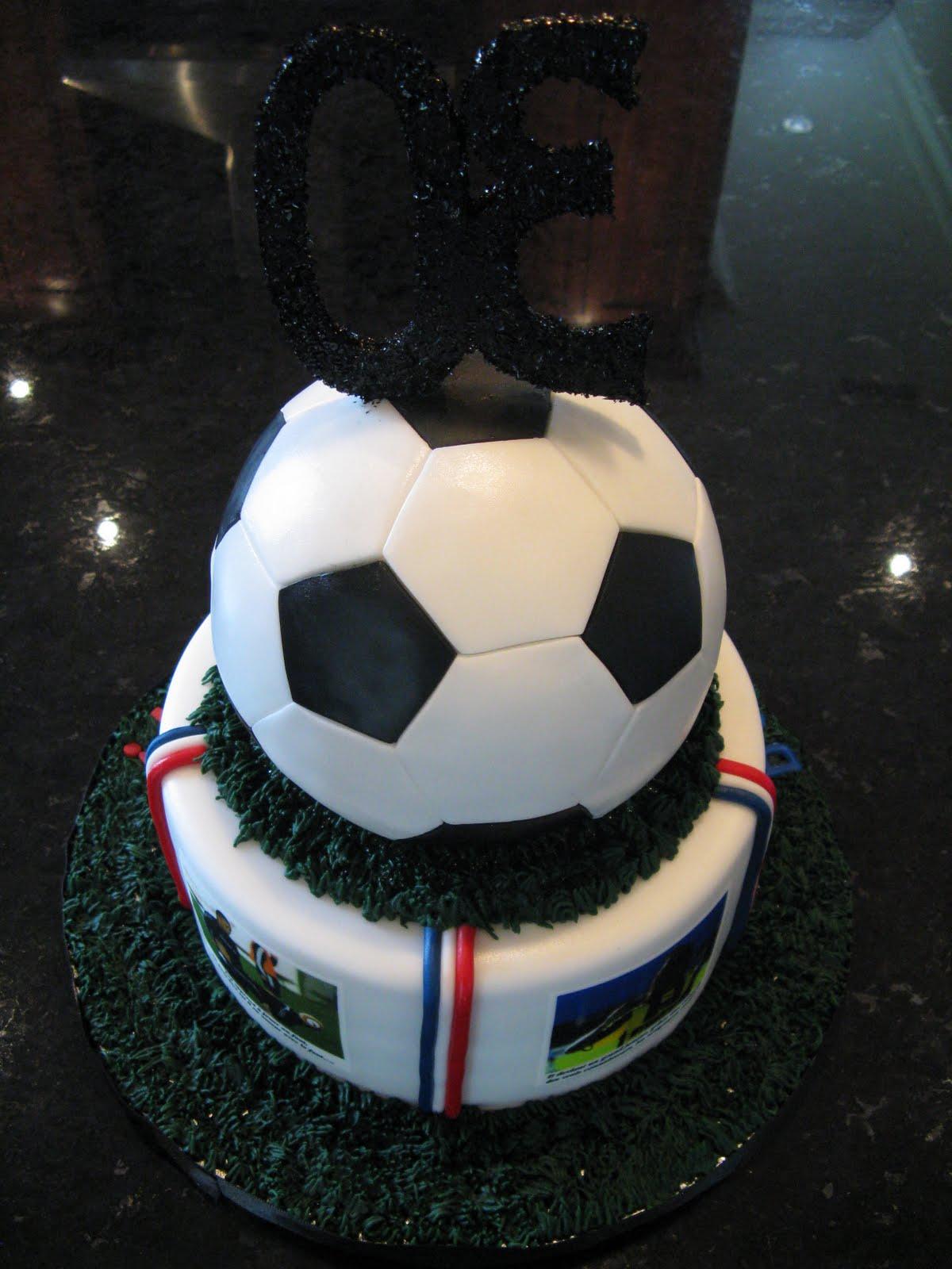G teaux design g teau ballon soccer 30 ans 30 th soccer ball cake - Image gateau anniversaire 30 ans ...