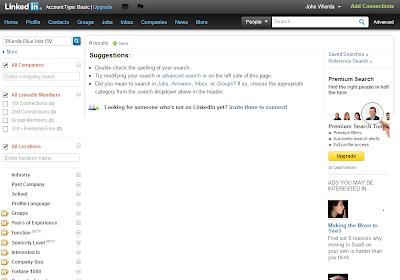 Geen zoekresultaat LinkedIn TeleManager