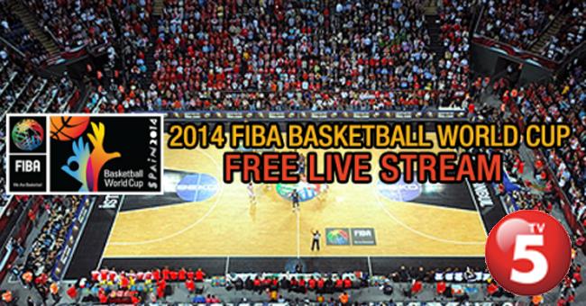 FIBA World Cup 2014 Replay and Live Streaming via TV5