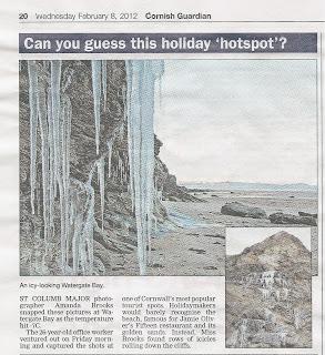 Cornish Guardian photograph. Watergate Bay