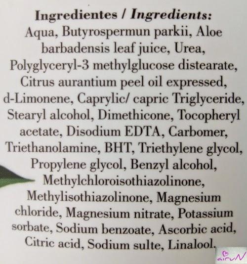 ingredientes loción benditaluz naranja amarga
